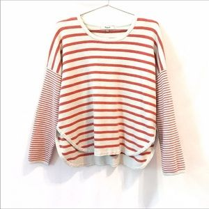 Madewell Striped Dolman Sleeve Sweater - Size L